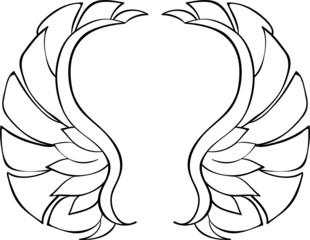 römische Flügel Lineart