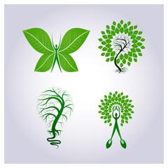 Vector logo set environmental protection