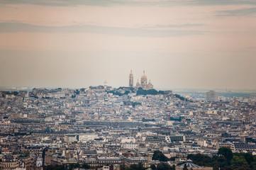Sacre Coeur Church, skyline view Paris, France