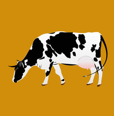 Dairy Cow.Sticker.Vector