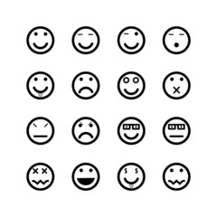 Icons of smiley faces