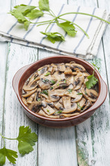 Garlic mushrooms series 08