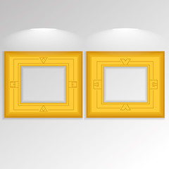 Stylish Golden Frameworks Isolated On Background