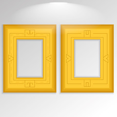 Stylish Golden Framework Isolated On Background