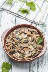 Garlic mushrooms series 05