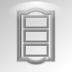 Stylish Silver Frameworks Isolated On Background