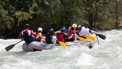 Fototapete - rafting