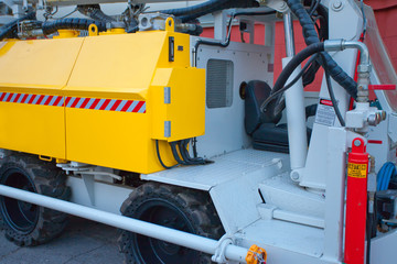 detail of a concrete mixer truck