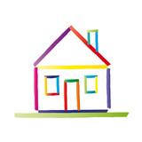 Haus strichzeichnung  Haus Strichzeichnung - im eigenen Haus wohnen.