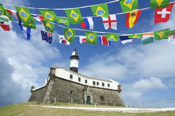 Farol da Barra Salvador Brazil Lighthouse International Flags