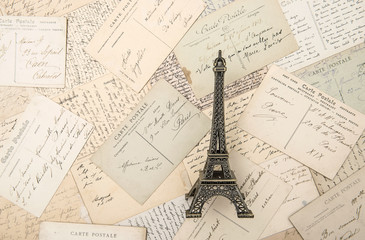 antique french postcards and souvenir Eiffel Tower