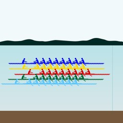Competitions in rowing
