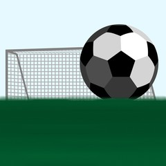Soccer ball and football goals