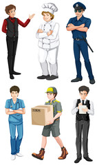 Different male professions