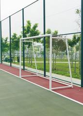 Foto op Plexiglas Groene Goal post in futsal court.