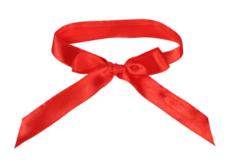 Red silk bow