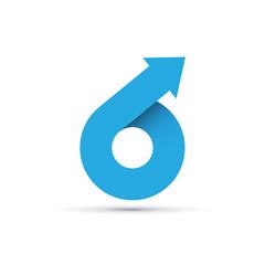 Logo abstract geometric shape