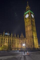 Night view of Big Ben in London