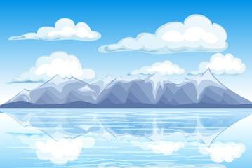Mountain landscape view vector
