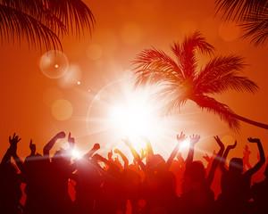 Beach Sunset Party