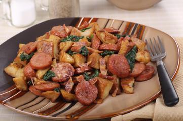 Sausage and Fried Potatoes