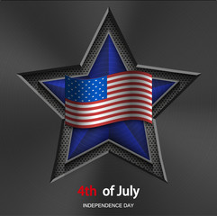 Vector 4th of july background. USA Independence Day