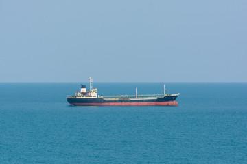 cargo ship in ocean blue water