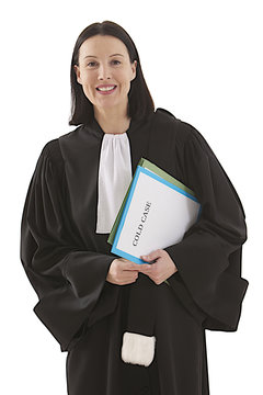 woman lawyer attorney with cold case folder
