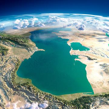 Fragments of the planet Earth. Caspian Sea