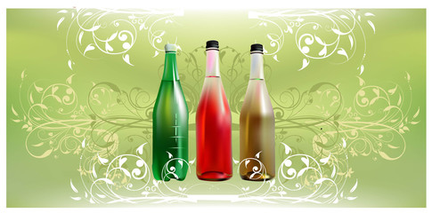 Mineral, soda of fruit water water background