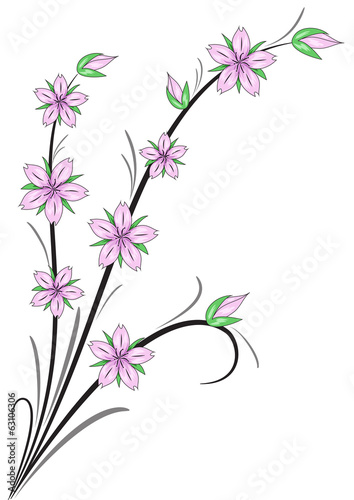 Fiori di ciliegio stilizzati immagini e vettoriali for Fiori stilizzati immagini
