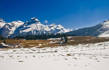 Titlis panorama above Truebsee, Engelberg, Switzerland