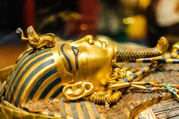 Mask of pharaoh Tutankhamun