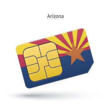 State of Arizona phone sim card with flag.