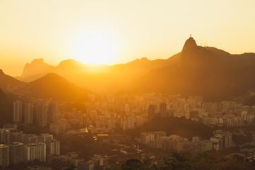 Sunset over Rio Di Janeiro
