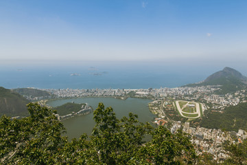 View over Rio and Autódromo Internacional Nelson Piquet