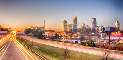 Wall Mural - early morning in charlotte nc