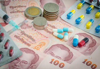 Concept of medicine and money