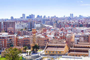 view of residence district in Barcelona