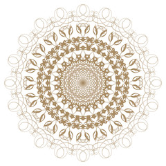 Decorative gold flower with vintage round patterns......