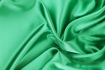 Smooth elegant emerald silk.