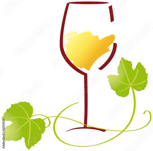 Verre vin blanc v1 fichier vectoriel libre de droits sur la banque d 39 images - Verre de vin dessin ...