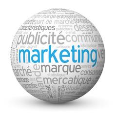 """Globe - Nuage de Tags """"MARKETING"""" (publicité communication rp)"""