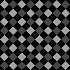 Black and Gray Argyle Pattern Repeat Background