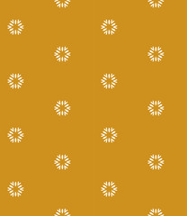 Yellow seamless pattern with flowers