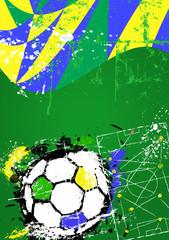 Soccer / Football illustration,brazil free copy space, vector