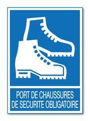 Panneau port de chaussures de sécurité obligatoire.
