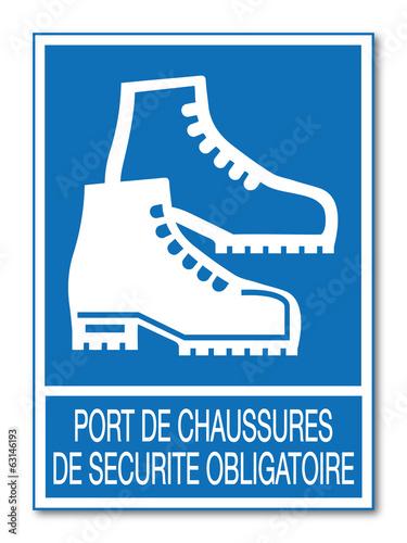Chaussure de securite logo - Port de couche obligatoire ...