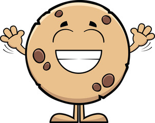 Grinning Cartoon Cookie