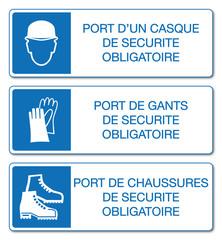 Panneau port des EPI obligatoire.